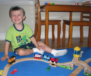Adam with Thomas and Friends