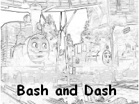 Free Bash and Dash coloring page
