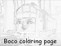 Boco Thomas and Friends coloring page