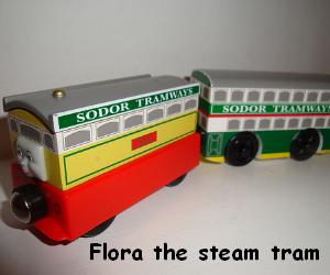 Flora the yellow steam tram