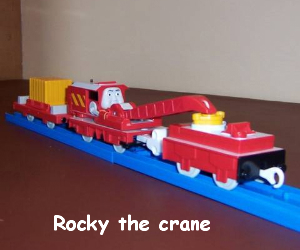 Rocky the red crane