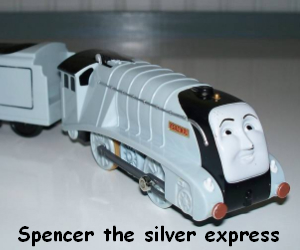 Spencer the silver express engine