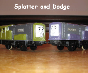 Splatter and Dodge are diesel shunters